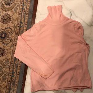 Talbots pink cotton turtleneck